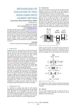 METHODOLOGY OF EVALUATION OF TOOL WEAR USING FINITE ELEMENT